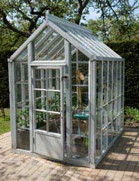 Small Glass and Plastic Garden Buildings